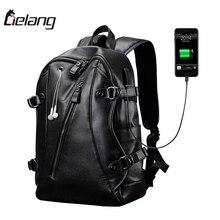 Lielang бренд рюкзак Для мужчин Внешний USB зарядки Для мужчин Анти-кражи компьютера 15.6 дюймов Водонепроницаемый ноутбука Рюкзаки Новый 2017