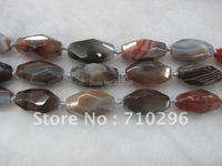 Botswana Agate 15x30 Mm Faceted Gemstone Rice Beads 5 String Lot 15 5 String Free Shipping