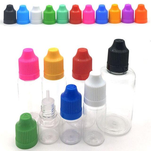 5Pcs Clear Dropper Bottle 3ml 5ml 10ml 15ml 20ml 30ml 50ml E Liquid Bottle Eye Liquid Dropper Refillable Bottle