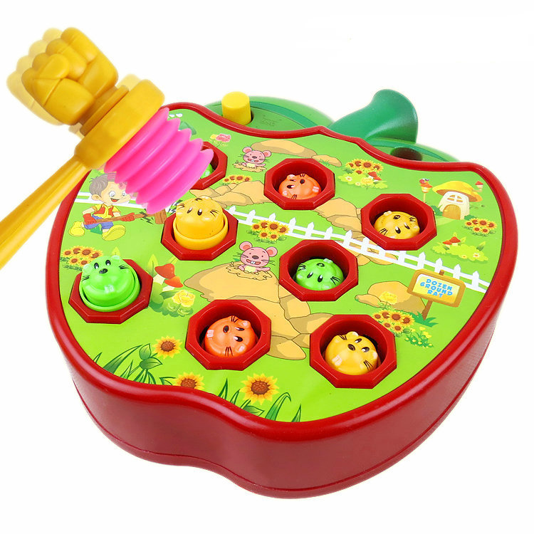 Battery Operated Sounding Unisex Electronic Plastic Electric Whack-a-mole Educational Toys Childrens