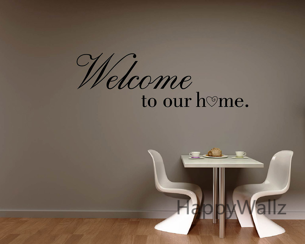 Welcome to Our Home Family Quote Wall Sticker Family Quote Wall Decal Decorating DIY Family Welcome Home Quote Wall Decal Q88-in Wall Stickers from Home ... & Welcome to Our Home Family Quote Wall Sticker Family Quote Wall ...