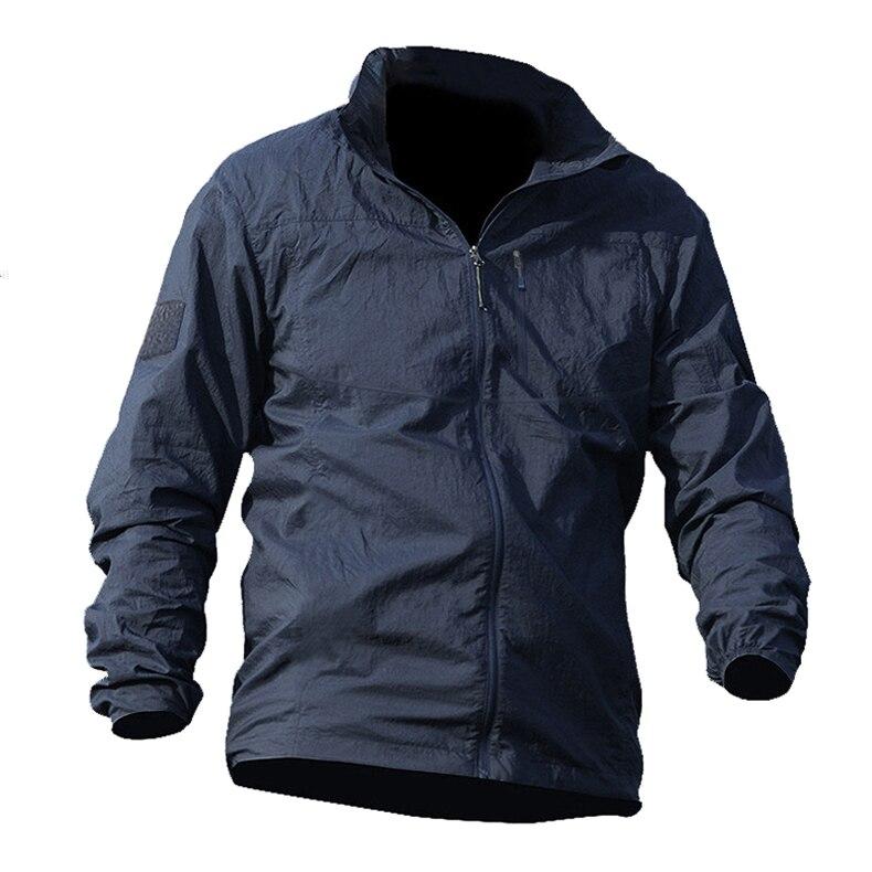 TACVASEN High Quality Summer Men Jacket Military Tactical Waterproof Jacket Thin Windbreaker Quick Dry Jacket Coat YCXL-011-01