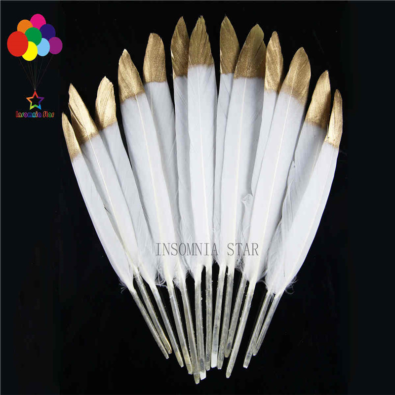Natural bleaching small straight knife 10-15 cm (4 to 6 inches) head spray paint duck feather 100 DIY decoration accessories
