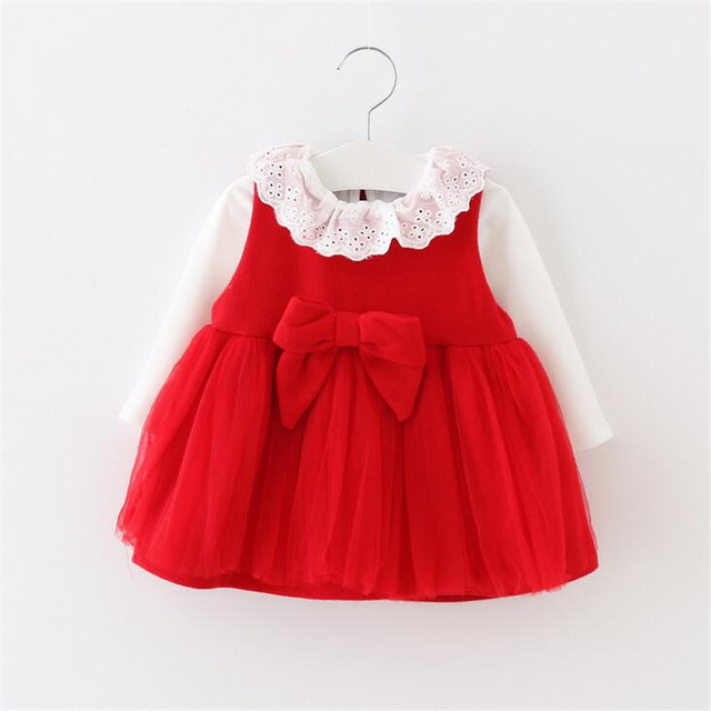 autumn and winter 2016 Korean style baby girls dress suit baby princess dress for holiday party clothing sets