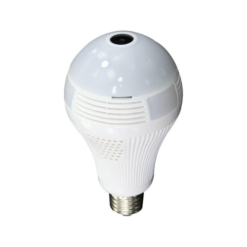 360 Degree Panoramic Wireless Fisheye Camera With LED Light Bulb E27 Intelligent Lighting Bulbs Built In Speaker And Microphone