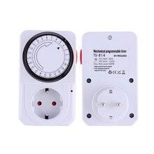 Tomada de Poupança de Energia Interruptor de Tempo para Eletrodomésticos 24 Horas Mecânica Temporizador Programa Plugue Elétrico Interruptor DA Ue e au