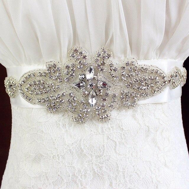 Nouveau Design de mariée sash, Strass parage Applique pour robe de mariée  ceinture sash, 6161b9e7e2a
