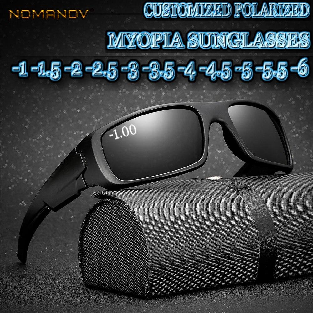 2019 haut à la mode sur mesure myopie moins Prescription lentille polarisée Style d'été Sports plein air conduite lunettes de soleil-1 à-6