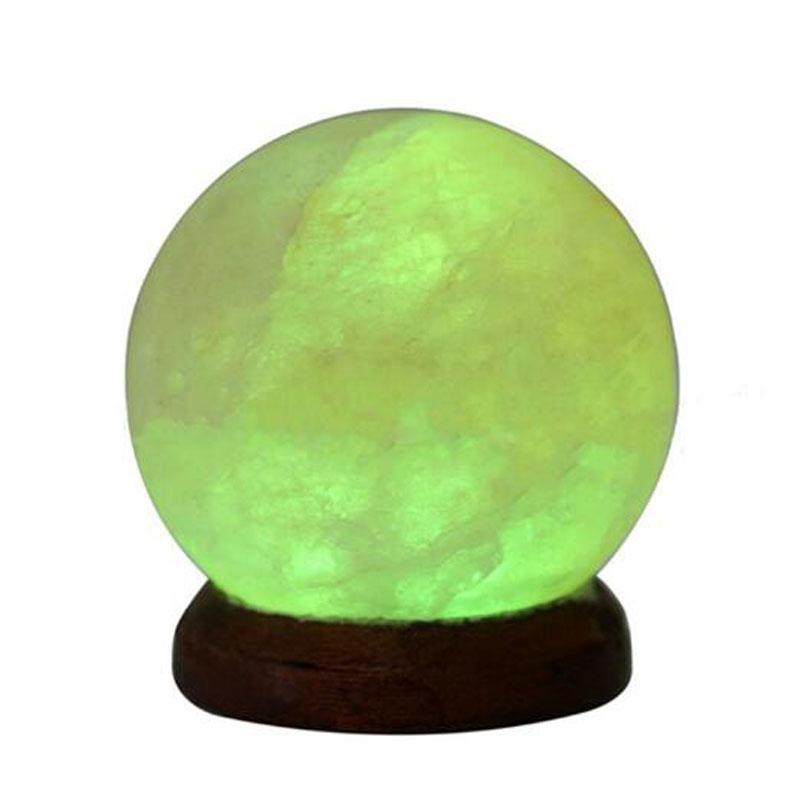 Lâmpada de Sal de Cristal Brilhante Atraente Nightlight DC5V