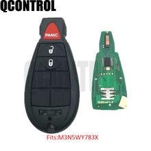 QCONTROL 3BT Novo Controle Remoto Inteligente Chave Do Carro para a Chrysler Town & Country 300 FCC ID M3N5WY783X/IYZ-C01C