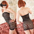The new mesh skirt explosion lingerie sexy tight hole hollow net conjoined skirt net