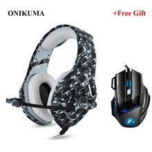 ONIKUMA K1 Camouflage Gaming Headsets Wired PC Stereo Headphones with Microphone for PS4 Xbox Laptop Tablet Gamer