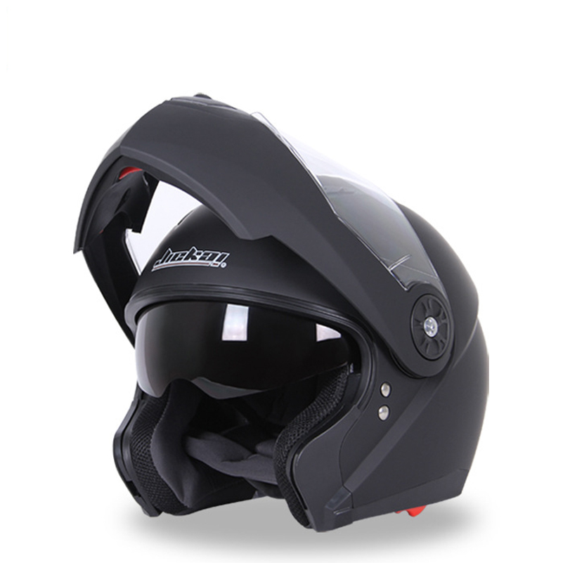 Jiekai Motorcycle Full Face Helmet Double Lens for men Electric motorbike riding Racing Safety flip up