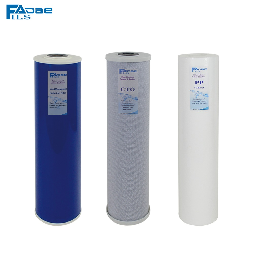 Whole House Water Filter System Replacement Filters 20x4-1/2 PP Sediment Filter ,Carbon Block ,Iron&Manganese Reduction Filter kx matrikx 1 01 425 125 20 carbon block filter 20 x 4 25