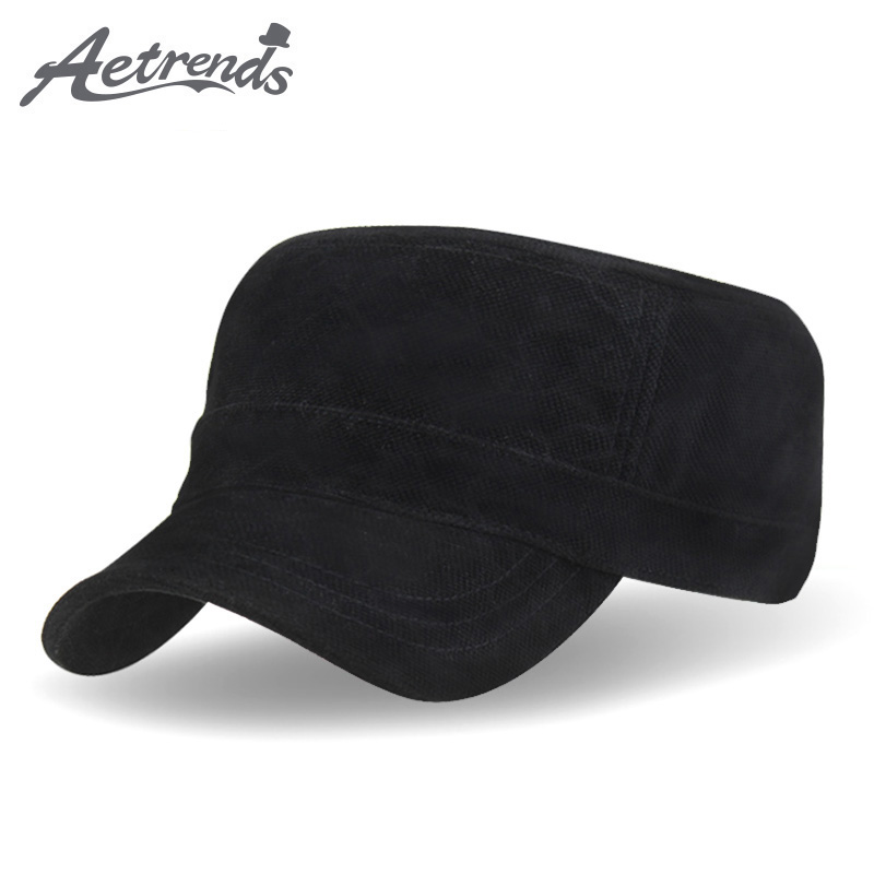 [AETRENDS] 2017 New Brand Winter Baseball Cap Men Velvet Polo Flat Hat Z-3030 outfly outdoor winter flat top earflaps hat cap for men army green