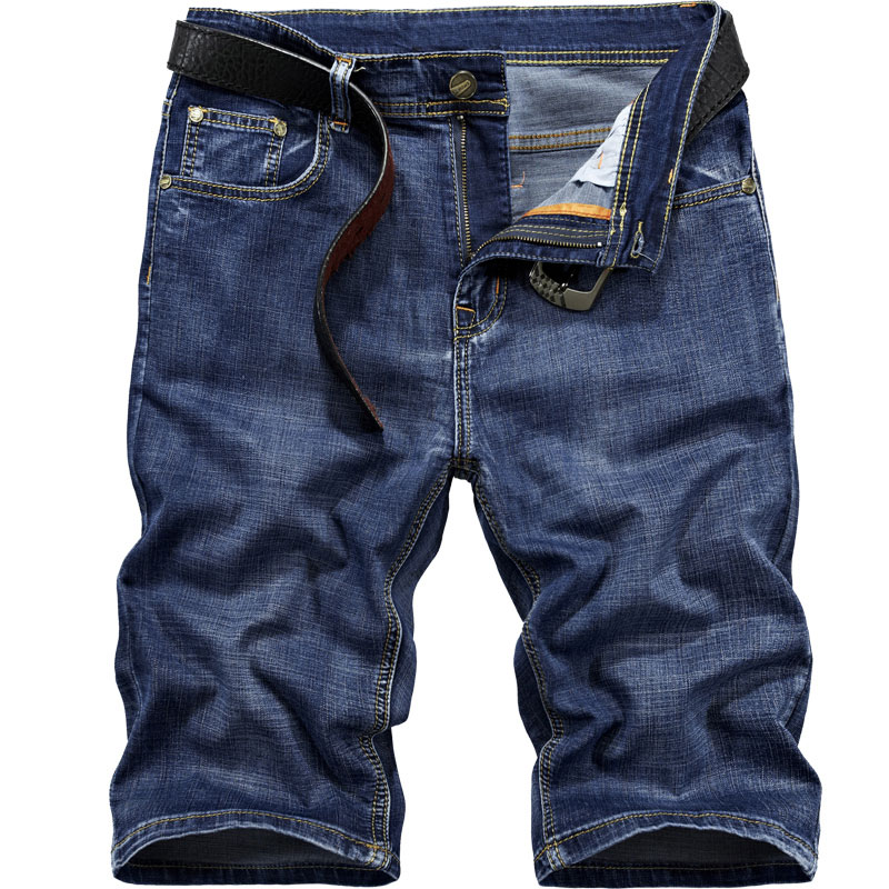 2018 Summer 30~42 Military Denim Shorts Retro Clothing Blue Jeans Straight Mens Shorts C ...
