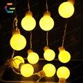 5 M 20 Lâmpadas LED Cordas Luzes AC220V Impermeável Ao Ar Livre Led Xmas Natal Luz para Festa de Natal Do Casamento Do Feriado