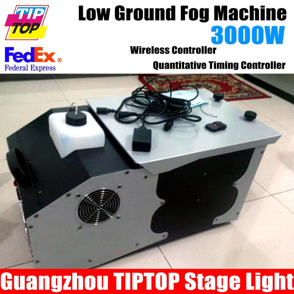 Freeshipping 3000W Low Ground Fog Machine DMX512 Remte Control Continuous Low Lying Ground 3000W Stage Smoke