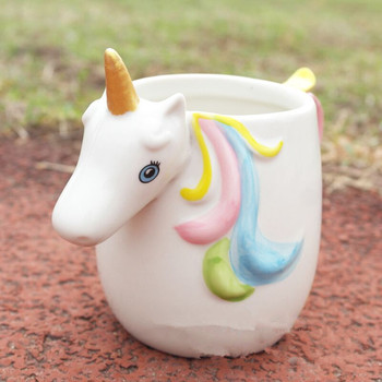 3D Rainbow Unicorn Ceramic Mug