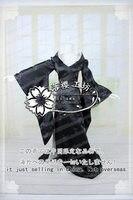 XxxHOLiC Yuuko ichihara Cauda Do Pavão Luxo Partido Vestido Preto do Dia Das Bruxas Roupa Uniforme Traje Cosplay Feito Por Encomenda