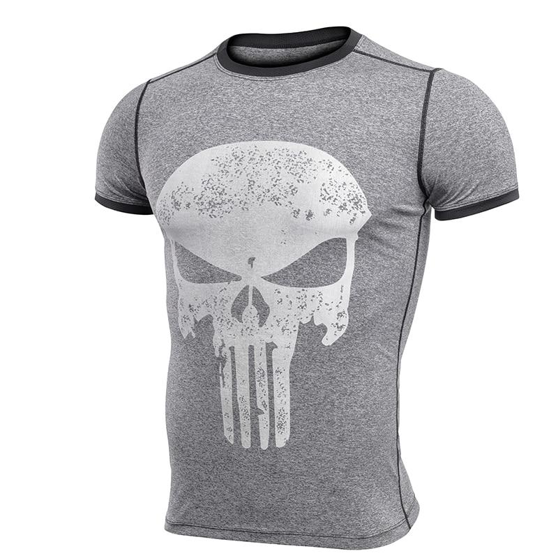 2426416b8bfe New Fitness Compression Shirt Men Anime Superhero Punisher Skull ...