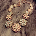 Lemon Value Bohemia Statement Choker Colares Vintage Charms Collar Boho Crystal Flower Maxi Necklace Women Jewelry Collier A229