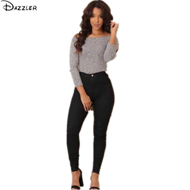 Women Autumn Fashion Black Soft Skinny Long Elastic Jeans Cool Denim Pants Slim Pencil Trousers Oct10