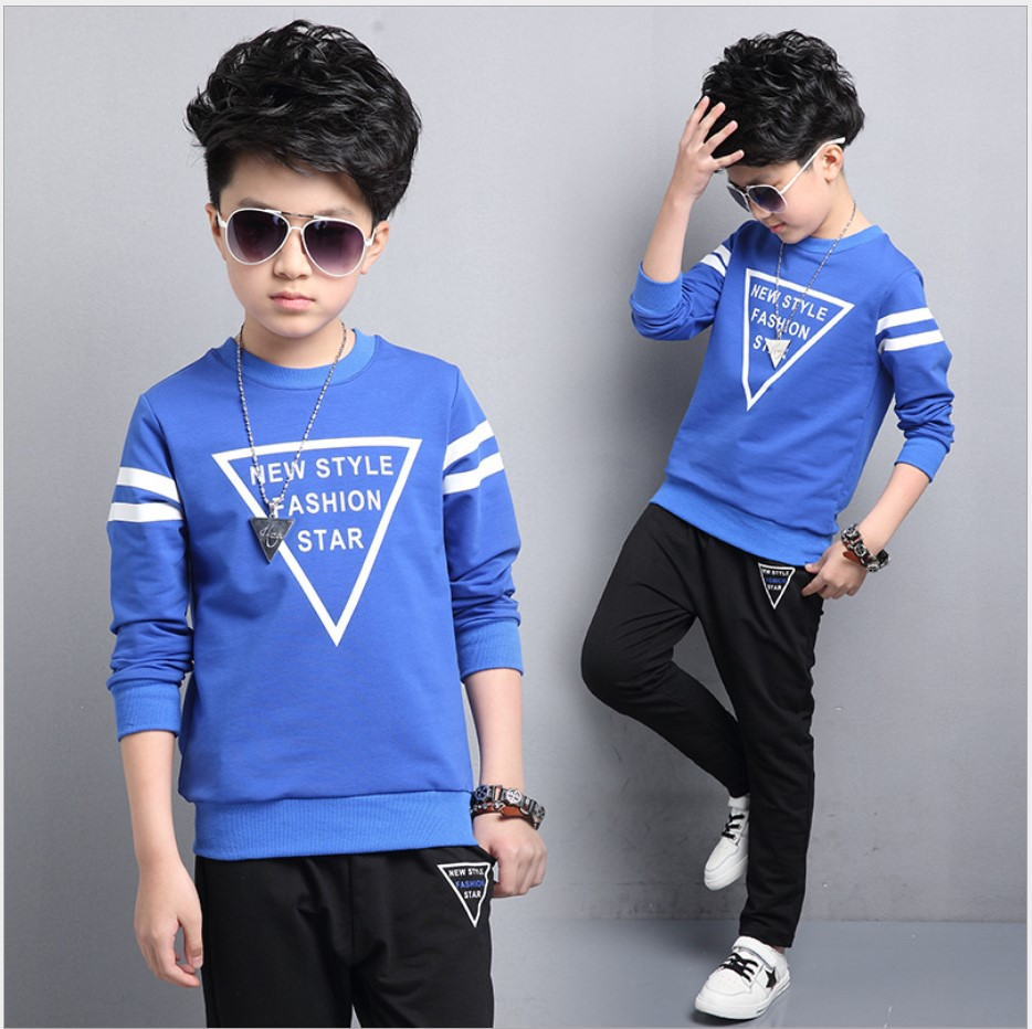Boys Fall Sets 2017 Striped Pullover School Uniform Two-piece Children Sports Suit Teenage Girls Clothes 13 Years Tracksuit Kids