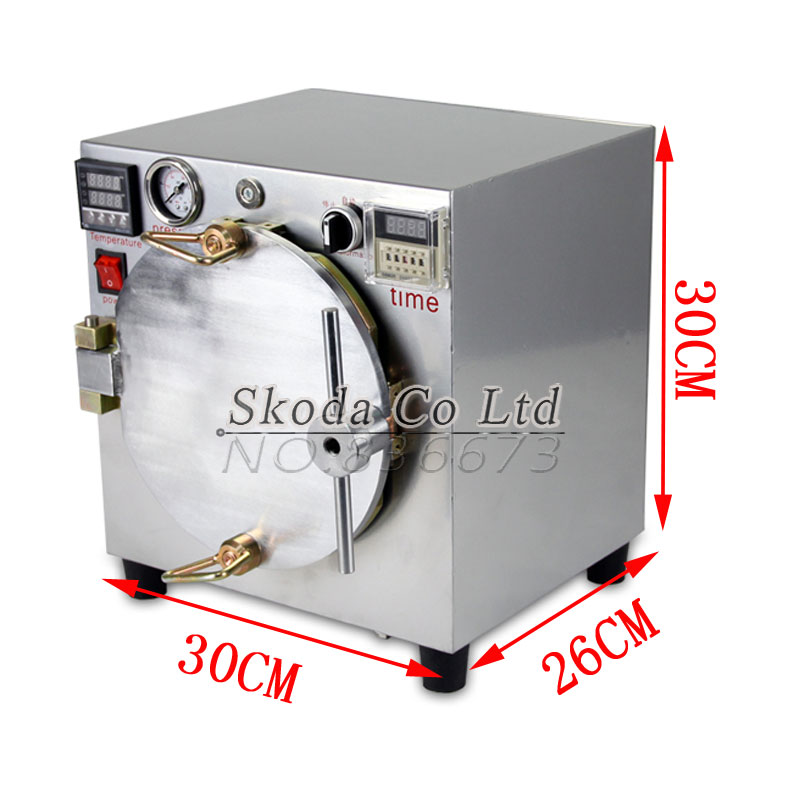 2015 New Mini High Pressure Autoclave OCA Adhesive Sticker LCD Bubble Remove Machine for Touch Screen Glass Refurbishment autoclave bubble remover oca adhesive sticker lcd air bubble remove machine air compressor glass refurbishment cellphone