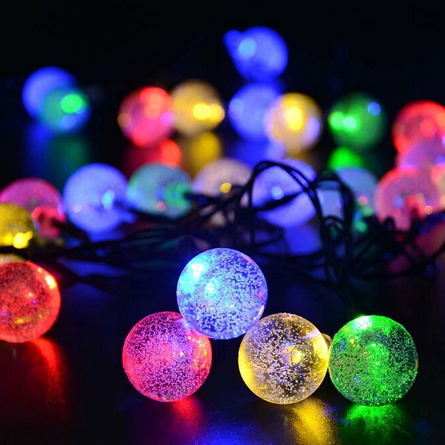 20 Clear Outdoor Globe Festoon Party LED Ball Connectable string ...