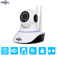 Double Wireless IP Camera Wifi PT Home Security Camera HD Cctv Camera P2P Camera TF Card