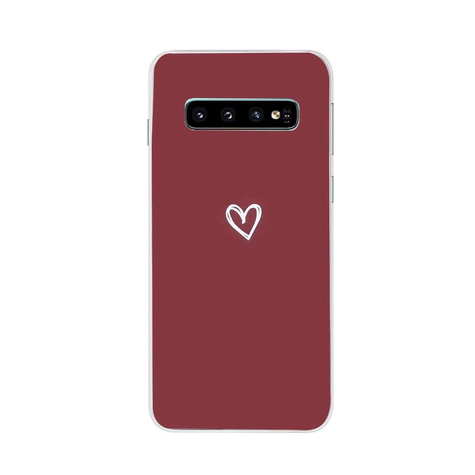 Para Samsung Caso Silicone TPU Case Soft para Samsung Galaxy S10 S10 Plus Lite Tampa Do Telefone de Volta Para Funda Galáxia s10e e coque