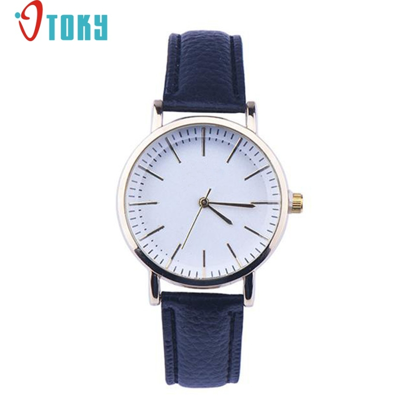 Hot hothot Sales Simple Design reloj de pulsera Quartz Watches Women Elegant Big Dial Faux Leather Band Analog Wrist Watch jy29 hot hothot sales colorful boys girls students time electronic digital wrist sport watch free shipping at2 dropshipping li
