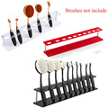 1x Oval Makeup Brush Holder Cosmetic Collapsible Special Design Dryer Hanger Stand Rack Organizer Dry Bracket Tool Storage Shelf