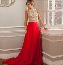 Luxus Rot 2016 Abendkleid Gerade Chiffon Illusion Arabischen Muslimischen Formale Kleider Für Hochzeit Promi Guest Kleid