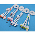 1 SET 4 in1 USB Charger Charging Cable Cord For iPhone For Samsung For HTC For LG For MOTO S0N75 P50