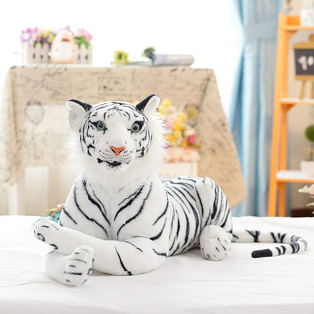 0179ca5bd06 placeholder Cute Plush White Tigers Stuffed Animals Plush Doll Beanie Boo  Ty Vivid Tiger Model Baby Kids