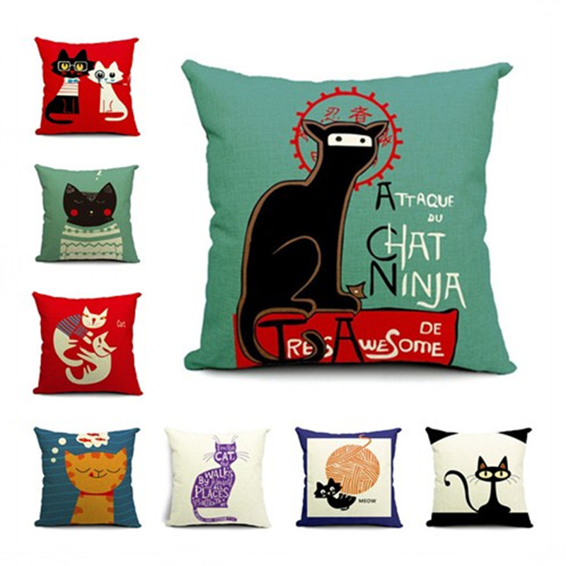 Animal Square Pillowcase Cushion Cover Pillow Case Sofa Office Home Decoration F