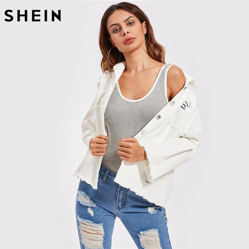 Neue frauen 2019 mode frühjahr gestreiften tropfen schulter casual revers lose denim Street langarm jacke mantel