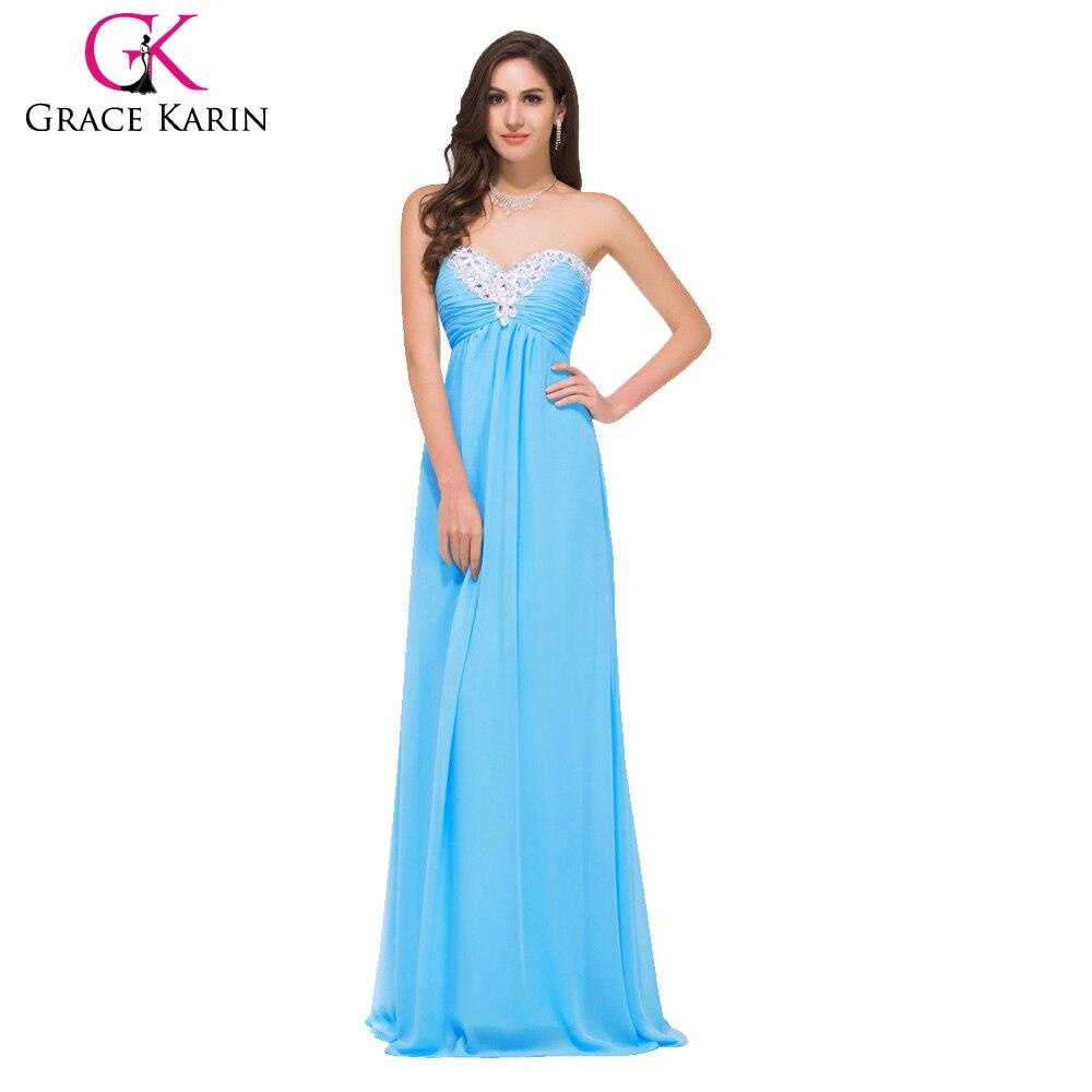 Grace karin women cheap blue pink evening dresses 2017 new for Formal dresses for weddings cheap