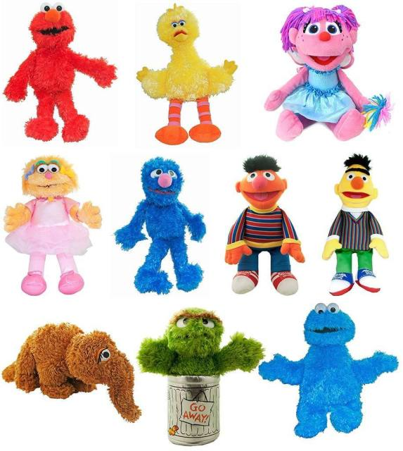 2018 New Authentic Sesame Street Plush Soft Toys Elmo Abby Bert