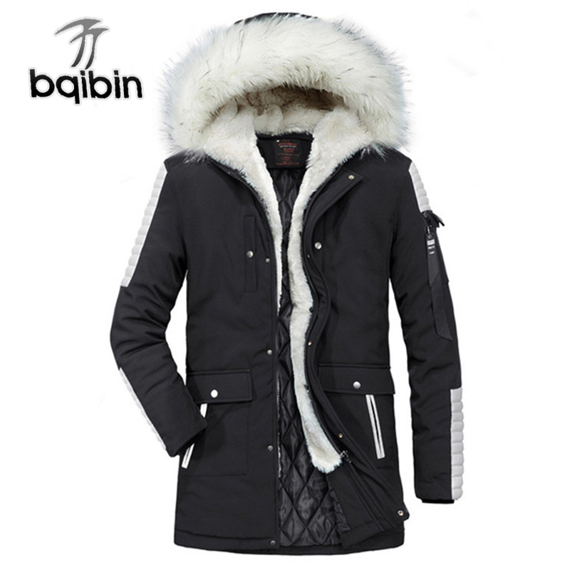 2018   Parka   Men Warm Thick Jacket New Long Winter   Parkas   Fur Hooded Overcoat Male Causal Outerwear Size XS-XXL