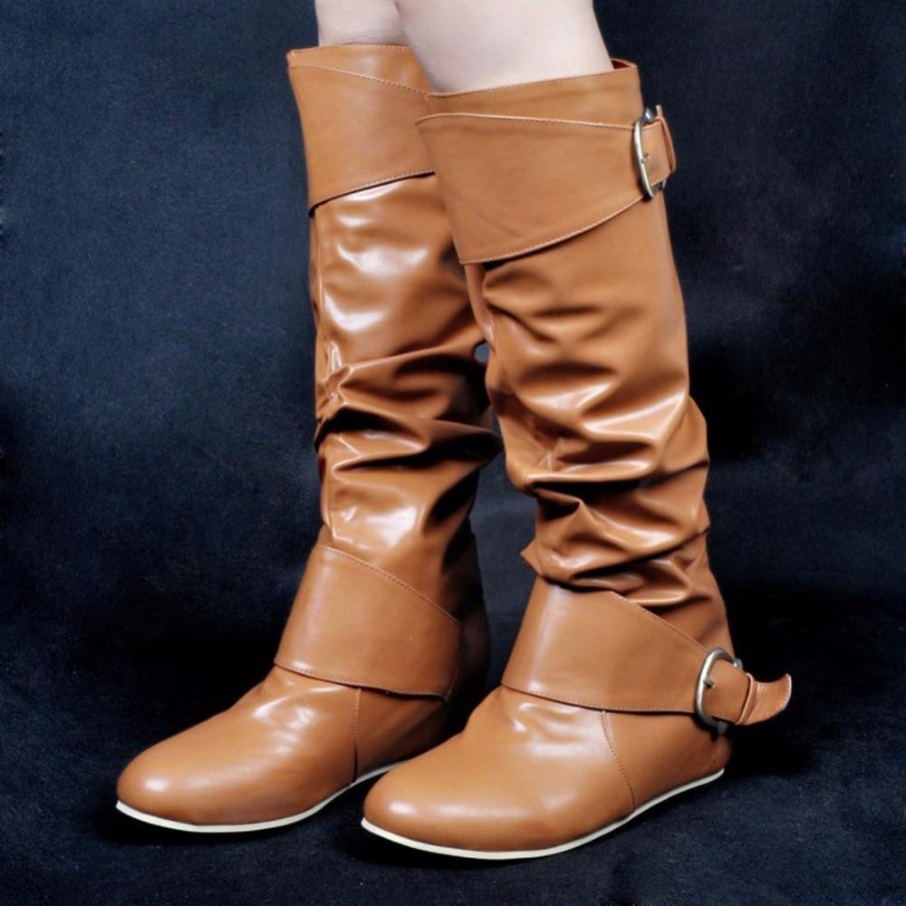 Parti Salut Vente Flats Mode Chaussures Nouvelle Dames Chaude Femmes La À Grande Main Daily Taille De Bottes Boucles Xd136 top ZwxOFTdq