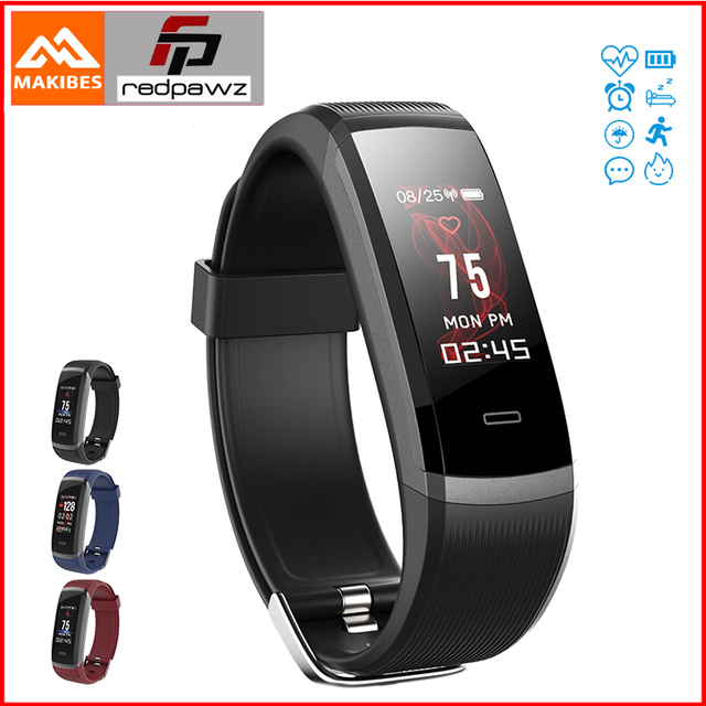 "Makibes HR3 Smart Wristband 0.96"" TFT Color Screen Continuous Heart Rate Monitor Health Fitness Tracker Smart Band Call Reminder"