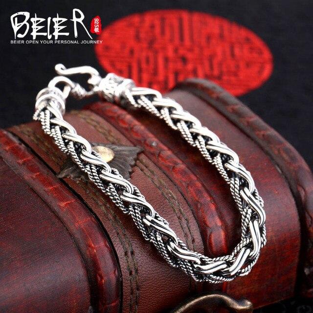 Beier стерлингового серебра 925 браслет цепь простой крест форма модный человек браслет ручной цепи SCTYL0058