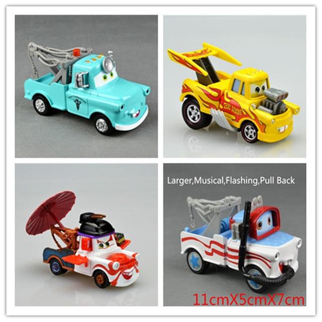 4pcs Lot Mater Cars Diecast Figure Tomica Tomy Disny Mini Cars Cute