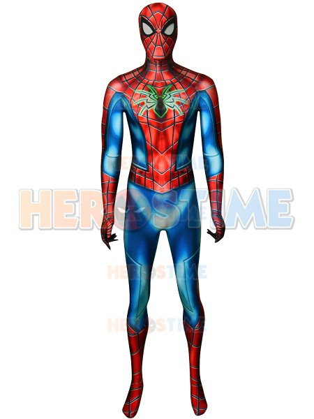 New Spider Armor MK IV Suit Spider-Man PS4 Games Costume 3D prit Spandex Spider Halloween Cosplay zentai suit For Adult/Kids