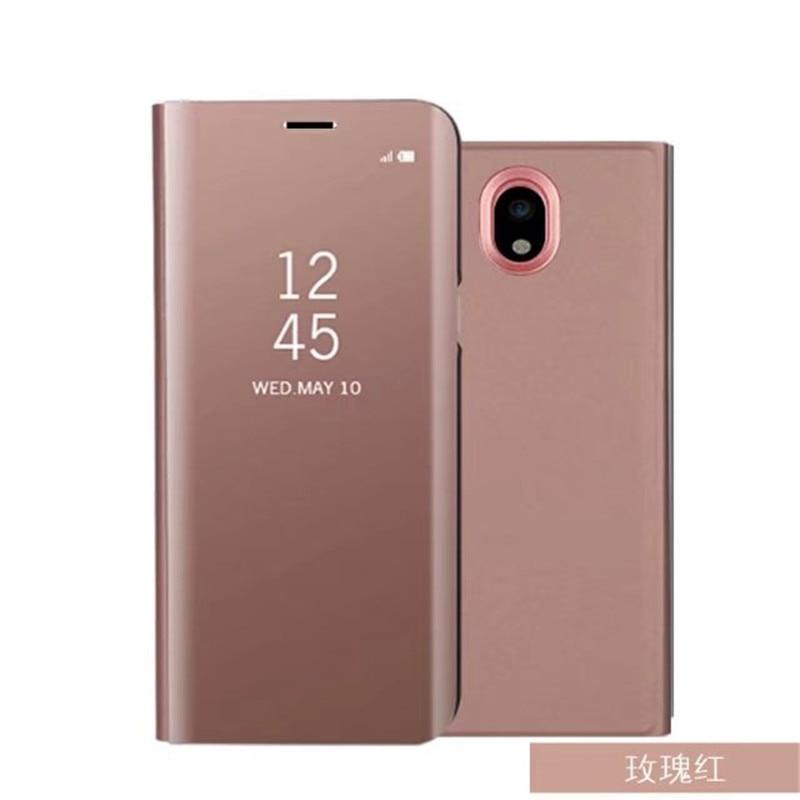Estande aleta Vista Inteligente Caso Espelho Telefone Para Huawei Companheiro 10 Pro Mate9 P10 P8 P9 2017 lite Cobertura Para Samsung S9 S8 A3 A5 J5 2017
