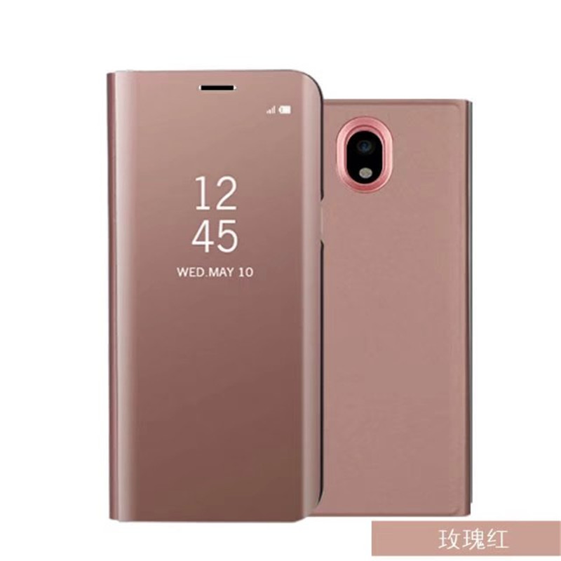Flip Ständer View Smart Spiegel Telefonkasten Für Huawei Kollege 10 Pro Mate9 P10 P9 P8 lite 2017 Abdeckung Für Samsung S9 S8 A3 A5 J5 2017