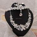 Nova Chegada de luxo casamento nupcial tiara de pérolas jóia por atacado colar de três-pedaço conjunto de jóias de casamento bijuterias conjunto colar